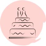 Cameraman mariage gâteau des mariés